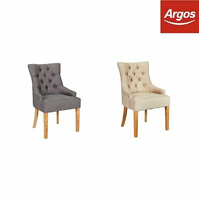 Argos Home Pair of Cherwell Dining Chair - Choice of Colour