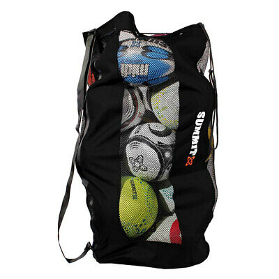 Summit Durable Sports Mesh Ball Bag/Shoulder Strap for Soccer/Football/Rugby