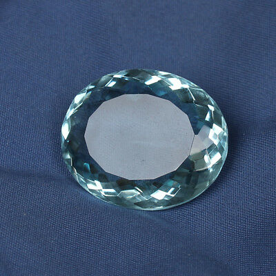 49.55 Ct. Natural Aquamarine Greenish Blue Color Perfect Oval Cut Loose Gemstone