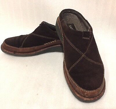 EASTLAND Slip-On Clogs Women's Size 9 1/2 M Brown Suede Leather Upper