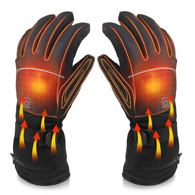 Electric Battery Powered Touchscreen Winter Warm Heated Sport Glove Xmas Gift