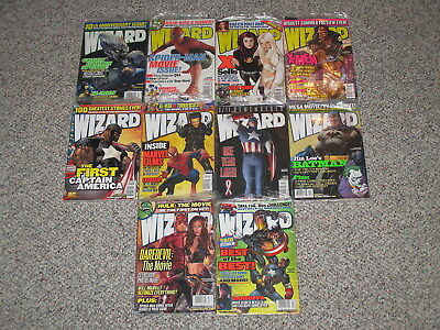 Lot of 10 Wizard Magazine Back Issues 127 128 129 130 131 132 133 134 135 136