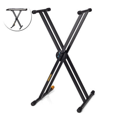 Hercules Universal Double Braced X Music Stand Holder Black for Piano/Keyboard