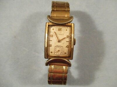 Wittnauer Watch Value >> Men S Vintage Art Deco 10k Gold Filled Wittnauer Watch And