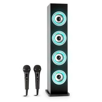 Auna Karaboom Bluetooth Tower Lautsprecher Karaoke Party Set Schwarz