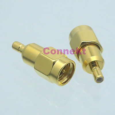 1pce SMA male plug to SSMB male plug center RF coaxial adapter connector