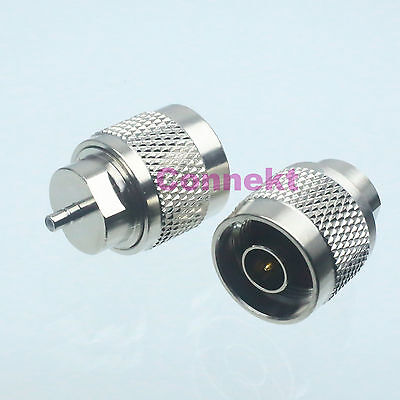 1pce N male plug to SSMB male plug center RF coaxial adapter connector