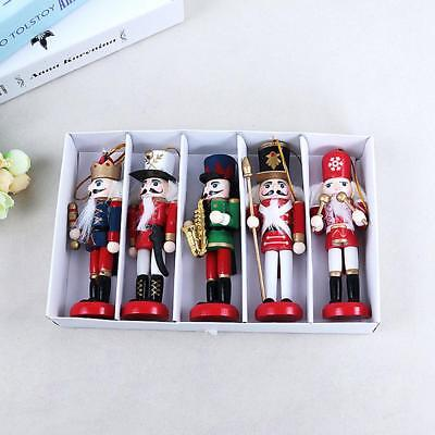 Cute Wooden Hanging Nutcracker Soldier Model Figurine Xmas Toy Gifts Decor 12cm