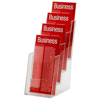 Esselte 1/3 A4 Brochure Holder/Case 4 Tier Counter/Store Display f/ Flyers