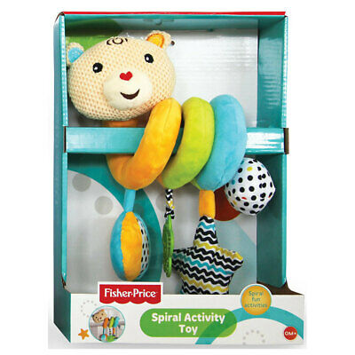 Fisher Price Baby Spiral Activity/Teether/Squeaker Educational Bear Toy Baby 0m+