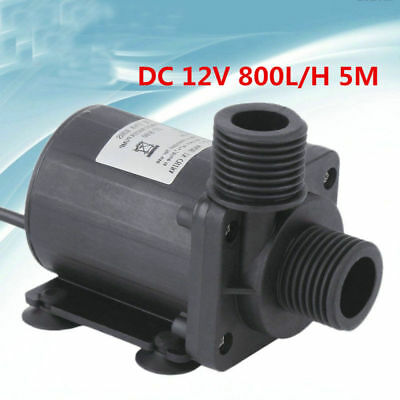 Mini Pompa ad Acqua Sommergibile Decorazione Irrigazione DC 12V 800L / H 5M