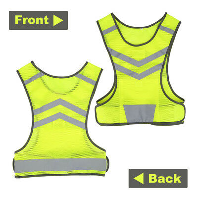 Outdoor Running Cycling Walking Safety High Visibility Reflective Vest Gear
