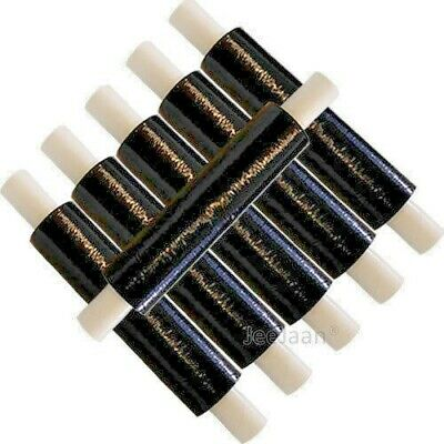 360 Rolls Black 400mm x 200m Extended Pallet Stretch Cling Film Wrap 17Micron