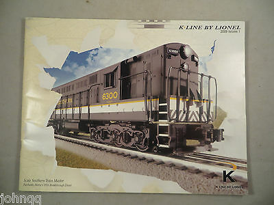 K-Line by Lionel 2009 Volume 1 58 Page O Scale Model Railroad Catalog