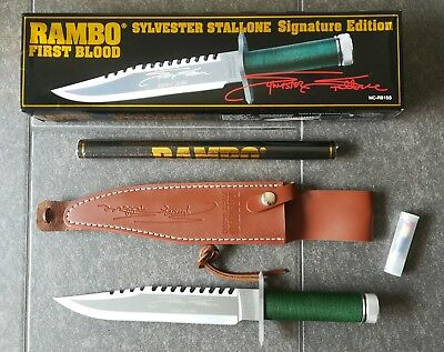 "original RAMBO 1 Messer First Blood Part I ""Stallone Signature Gold Edition"""