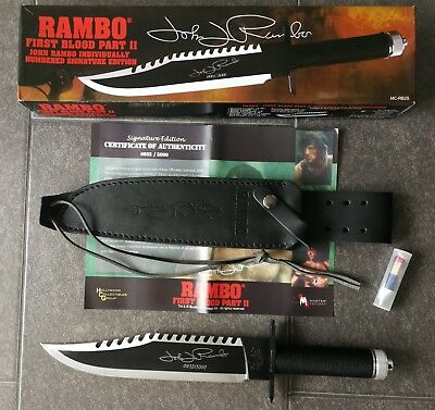"original RAMBO 2 Messer First Blood Part II ""John Rambo Signature Edition"""