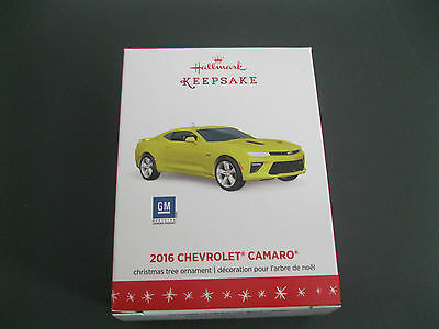 2016 Hallmark Ornament 2016 Chevrolet Camaro - Yellow - GM - Die-Cast Metal New