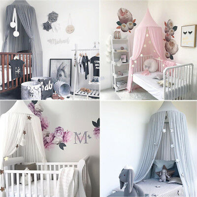 Princess Baby Girl Bedding Dome Cotton Tent Bed Canopy Hanging Dome Net Curtain
