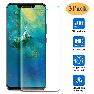 3Pcs 9H Clear Tempered Glass Film Protector For Huawei Mate 20 Pro/Mate 20X Lite