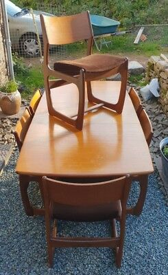 Mid Century dining table and six chairs by 'Portwood'