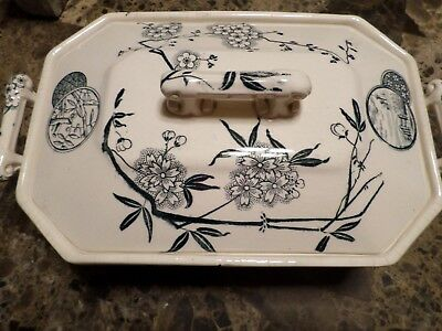 Rare Aesthetic Movement Transferware  Vegetable Bowl Unmarked