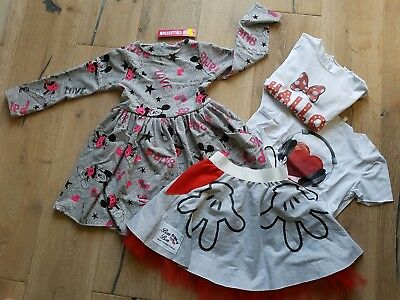 Girls bundle of clothes skirt,dress,tops,mickey mouse,minnie.new Age-7yrs