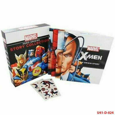 Marvel Hero Origins Story 4 books Collection set Captain America Spider X-Men