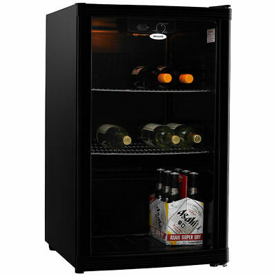 Heller HBC115B 115L Beverage Wine Bar Fridge Refrigerator Cooler Drinks Black