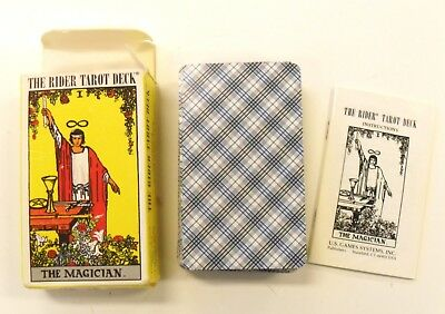 Vtg Rider Tarot Deck The Magician Original Waite 100% Complete 1971 Free Ship