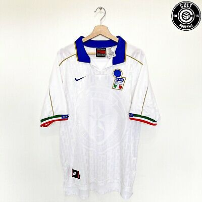 MALDINI #3 Italy Vintage Retro Nike Away Football Shirt 1994/96 (XL) AC Milan
