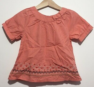 Perfect Condition Baby Girl Age 2 Vertbaudet Smart T Shirt Top Blouse