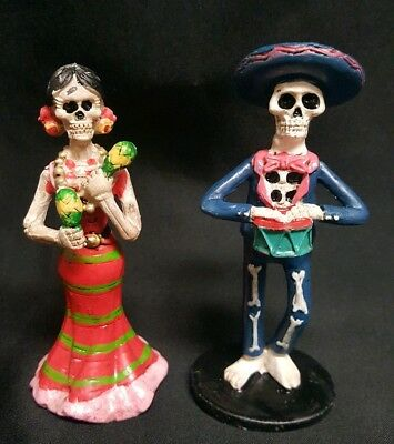 Sugar Skull Day Of The Dead Of The Dead Decorations Figurine Set NEW