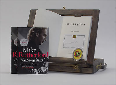 Signed Book - The Living Years by Mike Rutherford