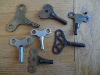 Vintage Clock Keys Assorted Sizes