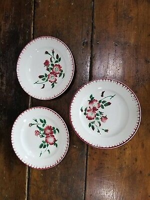 Vintage Epernay France French Flower Bud Round Bowls (3)