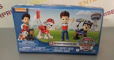 Paw Patrol, Action Pack Pup Set Of 3  - Marshall, Ryder, Chase - NEW Box Creased