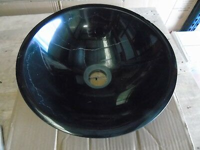Round Black Marquina Stone Counter Top Basin (customer return)