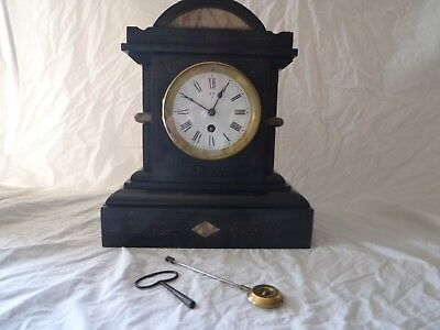 French Victorian Slate/marble  Clock