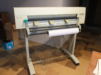 HP Hewlett Packard DesignJet 350C E/A0 Plotter with Stand, Roll-feed, Etc.