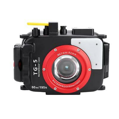 60M/195ft Underwater Waterproof Housing Case Diving Cover For Olympus TG5 Camera