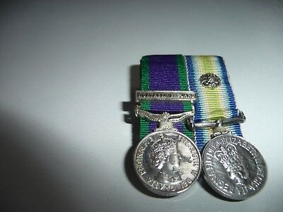 Original Miniature Falklands Medal And  Gsm With Northern Ireland Slip On Clasp