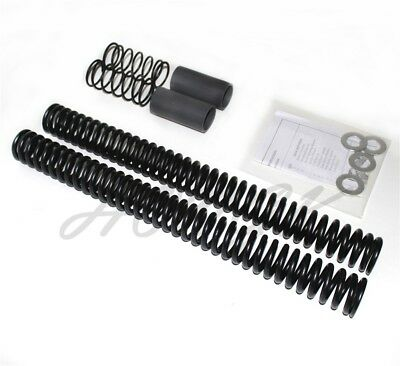 Abbassamento 49mm Forcella Anteriore Kit Molle Harley Dyna Fxd / Wg 06-17 16 15