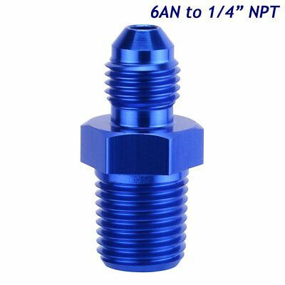 "6AN Male Flare to 1/4"" NPT Pipe Thread Straight Adapter Flare Reducer Fitting"