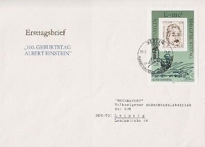 DDR FDC Block 54 mit SST Berlin 1979, frist day cover