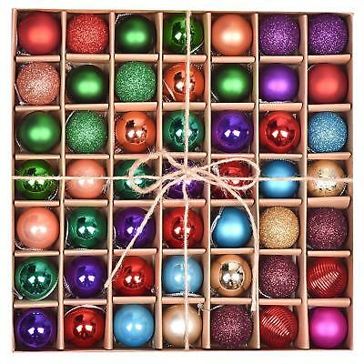 Stunning 49 pcs christmas baubles Xmas Christmas tree decorations balls Pack