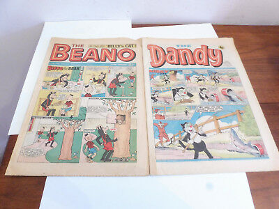 FOUND 2x 43 & 47 YEAR OLD  EDITIONS OF THE BEANO AND DANDY  FROM 1976&1972