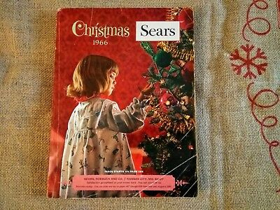 SEARS 1966 CHRISTMAS CATALOG WISH BOOK 200+ pages of toys, dolls, slots, bikes +
