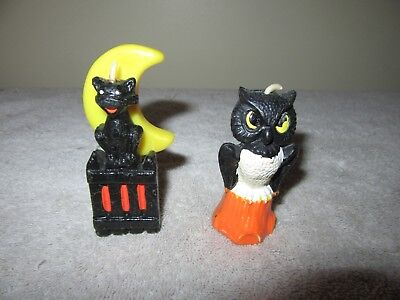 2 Vintage Halloween  Candles Gurley Candle Co.