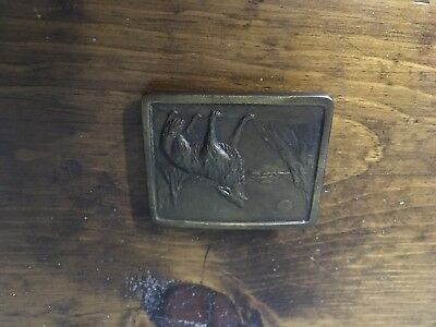 Vintage Indiana Metal Craft Belt Buckle 1977 Free Wheelin Four Wheelin Truck