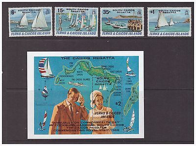 Turks & Caicos Islands MNH 1981 Regatta Ships, Boats set sheet mint stamps